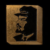 Soviet badge Lenin black  profile Royalty Free Stock Photography