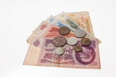 Soviet banknotes and coins Royalty Free Stock Images
