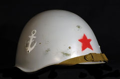 Soviet battle helmet Royalty Free Stock Photos