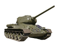 Soviet battle tank from the WWII Stock Images