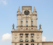 Soviet building with coat of arms in Minsk Royalty Free Stock Photo