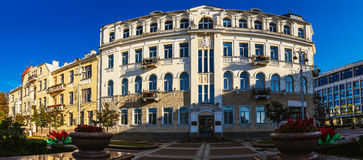 Soviet-built building in Minsk, Belarus. Soviet-built building in street Lenin, Minsk. Minsk is the capital and largest city of Belarus, situated on the Svislach Royalty Free Stock Image