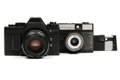 Soviet cameras Royalty Free Stock Photo