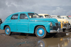 Soviet car GAZ M-20 at the exhibition of retro cars in Kronstadt Stock Photography