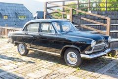 Soviet car in Kusturica Drvengrad in Serbia stock photos