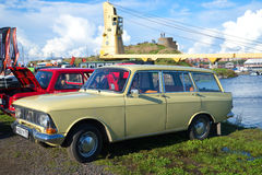 Soviet car Moskvich-427IE on the exhibition of vintage cars Royalty Free Stock Photos