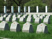 Soviet cemetery Royalty Free Stock Image