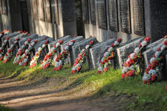 Soviet cemetery Royalty Free Stock Photography