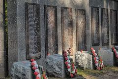 Soviet cemetery Stock Photo