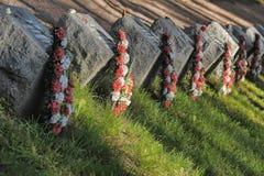 Soviet cemetery Stock Images