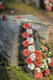 Soviet cemetery Royalty Free Stock Photo