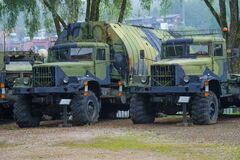 Soviet cfrs KrAZ-255  in the military museum, Hameenlinna