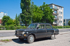 Soviet classic car parked Royalty Free Stock Image