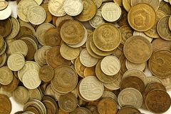 Soviet coins background Stock Photography