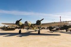 Soviet combat aircraft, an exhibit of military-historical Museum, Ekaterinburg, Russia, Stock Photos