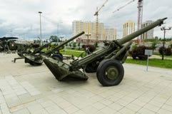 Soviet combat gun, an exhibit of military-historical Museum, Ekaterinburg, Russia, Royalty Free Stock Image