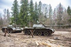 Soviet combat tank T55 Royalty Free Stock Photography