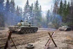Soviet combat tank T55 Royalty Free Stock Photos