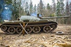 Soviet combat tank T55 Royalty Free Stock Images