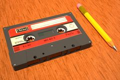 Soviet compact cassette 3D Royalty Free Stock Photo