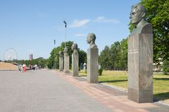 Soviet cosmonauts monuments Stock Images
