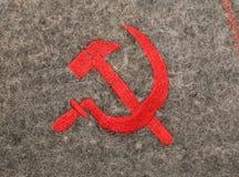 Soviet del martello e della falce simbolico Immagine Stock