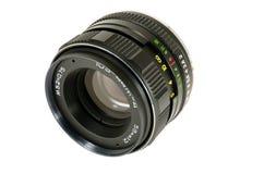 Soviet della lente per la macchina fotografica su fondo bianco Fotografia Stock Libera da Diritti