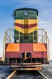 Soviet diesel locomotive stock image