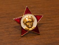 Soviet distinguishing icon Stock Photos