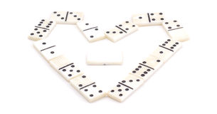 Soviet domino. Isolated on white background, very good board game Royalty Free Stock Photos