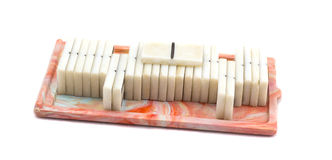 Soviet domino. Isolated on white background, very good board game Stock Images
