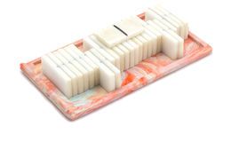 Soviet domino. Isolated on white background, very good board game Royalty Free Stock Photography