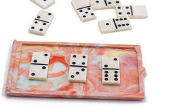 Soviet domino. Isolated on white background, very good board game Stock Photos