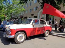 Soviet economy retro car of 1960s sedan Moskvitch 407 (Scaldia) Stock Photos