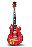 Soviet electric guitar. Colorful electric guitar made in soviet style Royalty Free Stock Images