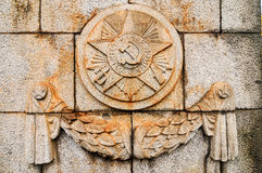 Soviet Emblem at Treptower Park Royalty Free Stock Photo