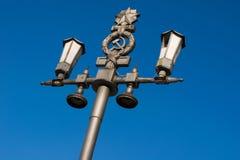 The Soviet empire. An ancient streetlight. stock photo