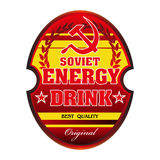 Soviet energy drink label Stock Images