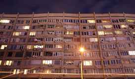 Soviet-era apartment block, Kiev Royalty Free Stock Images