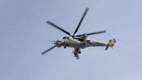 A Soviet era Mi-24 Hind helicopter Stock Photo