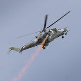 A Soviet era Mi-24 Hind helicopter Royalty Free Stock Image