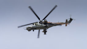 A Soviet era Mi-24 Hind helicopter Stock Image