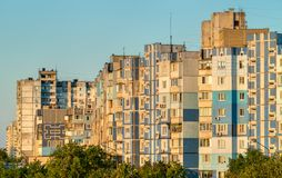 Soviet-era residential buildings in Troieschyna, a large neighborhood of Kiev, Ukraine Royalty Free Stock Photography