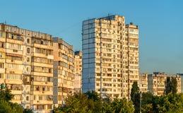 Soviet-era residential buildings in Troieschyna, a large neighborhood of Kiev, Ukraine Royalty Free Stock Photo