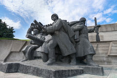 Soviet era World War II memorial in Kiev Ukraine Royalty Free Stock Photos