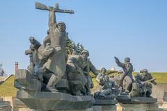 Soviet era WW2 memorial in Kiev Ukraine Royalty Free Stock Photography