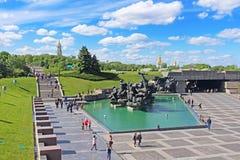 Soviet era WW2 memorial at The Ukrainian State Museum of the Great Patriotic War, Kyiv Stock Photo