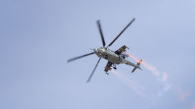 A Soviet eraMi-24 Hind helicopter Royalty Free Stock Image