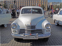 Soviet executive car of 1950s fastback GAZ-M20 Pobeda front view Stock Photography