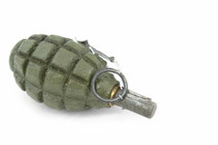 Soviet fragmentation hand grenade. Soviet hand grenades (slang - pineapples) isolated over a white background.  Fragmentation hand grenade, very effective used Royalty Free Stock Photography